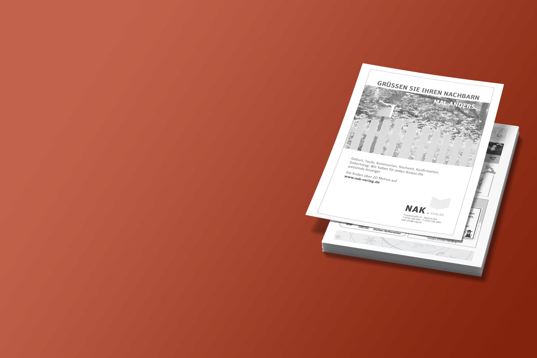Grußanzeige im Mitteilungsblatt schalten - NAK Verlag