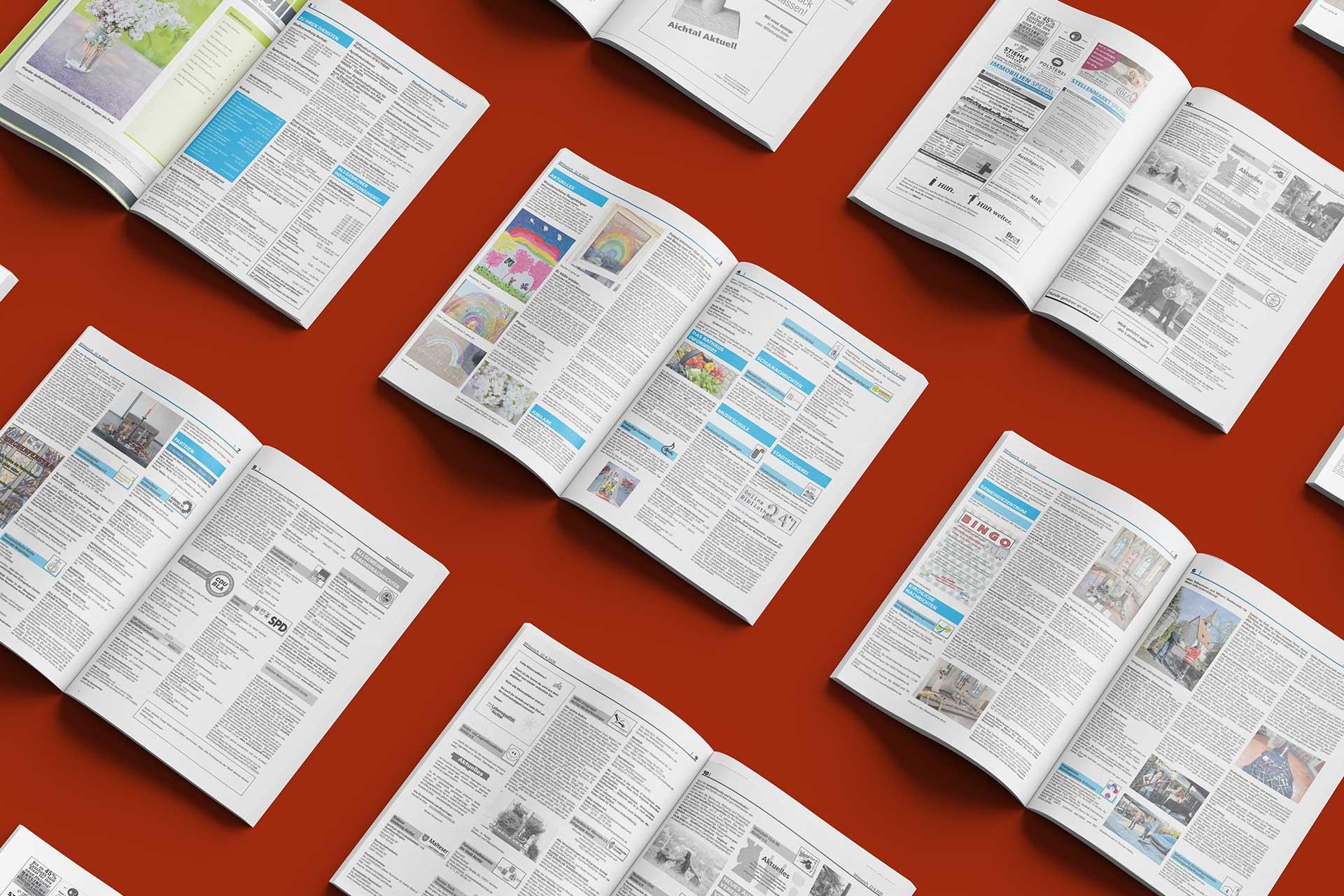 Gewerbliche Anzeigen in den Mitteilungsblättern des NAK Verlages